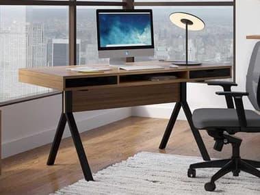 BDI Modica 60''W x 28''D Rectangular Natural Walnut Two Drawer & Slot Computer Desk BDI6341WL