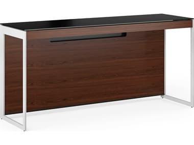 BDI Sequel-20 Black / Chocolate Stained Walnut / Satin Nickel Computer Desk BDI6102CWLS