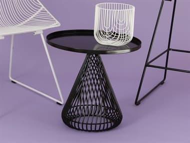 Bend Goods Cono Black 20'' Wide Round Pedestal Table BNDCONICALTABLEBLK