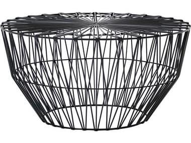Bend Goods Drum Black 25'' Wide Round Coffee Table BNDDRUMBLK