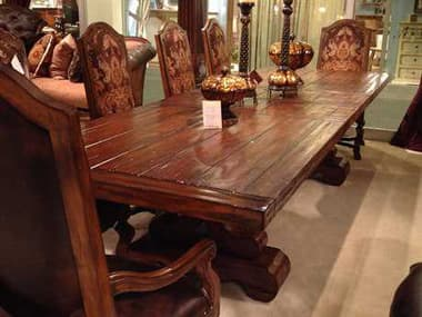 Benetti's Italia Furniture Majorica Woodtop Dining Table with Extension BFMAJORICAWOODTOPDININGTABLEWITHEXTENSION