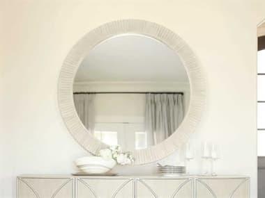 Bernhardt East Hampton Cerused Linen 44'' Wide Round Wall Mirror BH395333