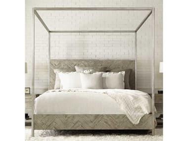 Bernhardt Highland Park Morel / Glazed Silver Queen Poster Bed BHK1303