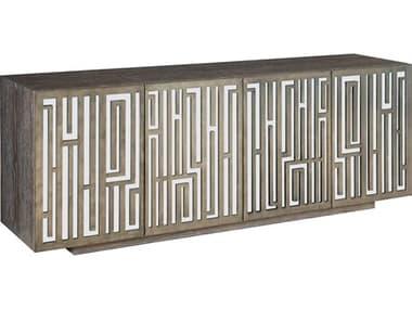 Bernhardt Interiors Casegoods Weathered Charcoal / Graphite Mirrored TV Stand BH379870