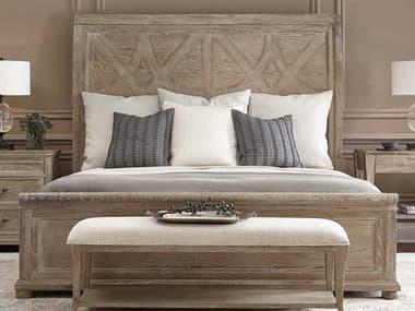 Bernhardt Rustic Patina Sand King Panel Bed BHK1290