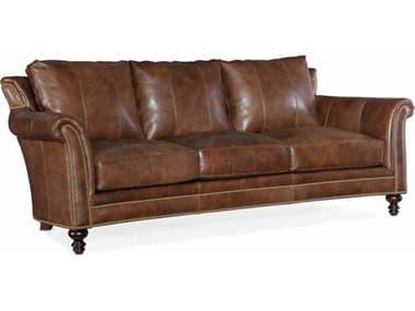 Bradington Young Richardson Cognac Brown / Plantation Sofa Couch BRDBYX8669598001587PLNBTUR