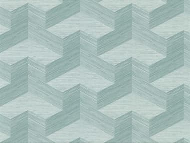 Brewster Home Fashions A-street Prints Y Knot Turquoise Geometric Texture Wallpaper BHF282982063