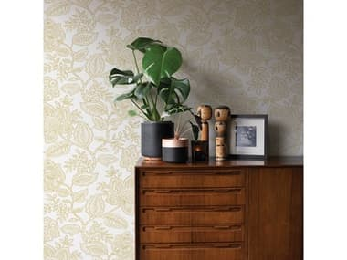 Brewster Home Fashions A-street Prints Larkin Khaki Floral Wallpaper BHF286125732
