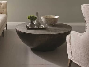Brownstone Furniture Delano  Antique Brass 48'' Wide Round Coffee Table BRNDL503
