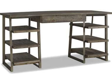 Brownstone Furniture Winston 62''L x 24''W Rectangular Natural Elm & Gun Metal Computer Desk BRNWN600