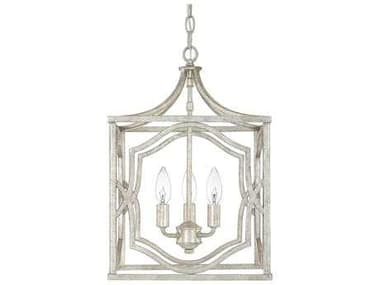 Capital Lighting Blakely Antique Silver Three-Light 12'' Wide Mini Chandelier C29481AS