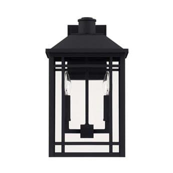 Capital Lighting Braden Black Two-Lights 10'' Wide Outdoor Wall Lantern C2927121BK