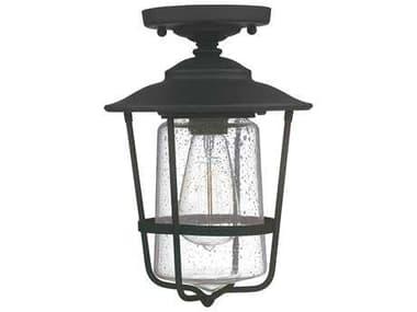 Capital Lighting Creekside Black  8'' Wide Outdoor Ceiling Light C29607BK