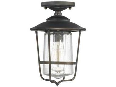 Capital Lighting Creekside Old Bronze 8'' Wide Outdoor Ceiling Light C29607OB