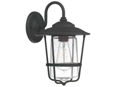 Capital Lighting Creekside Black  8'' Wide Outdoor Wall Light C29601BK