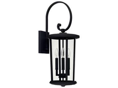 Capital Lighting Howell Black Three-Lights 10'' Wide Outdoor Wall Lantern C2926731BK