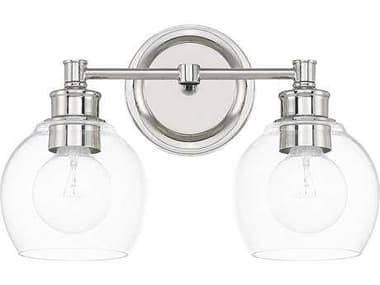 Capital Lighting Mid Century Polished Nickel Two-Light Vanity Light C2121121PN426