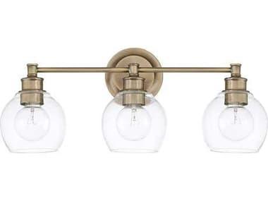 Capital Lighting Mid Century Aged Brass Three-Light Vanity Light C2121131AD426
