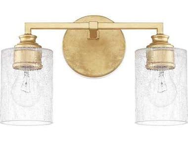 Capital Lighting Milan Capital Gold Two-Light Vanity Light C2120521CG422