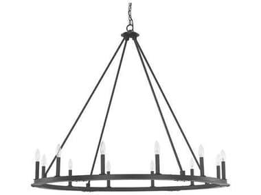 Capital Lighting Pearson Black Iron 12-Light 48'' Wide Chandelier C24912BI000