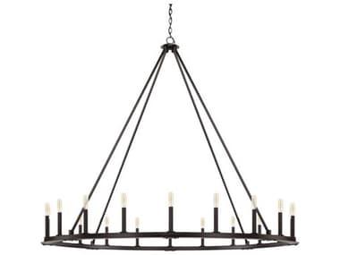 Capital Lighting Pearson Black Iron 20-Lights 60'' Wide Grand Chandelier C24913BI
