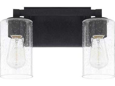 Capital Lighting Ravenwood Black Iron Two-Light Vanity Light C2119821BI435