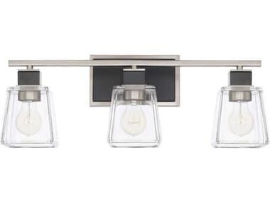 Capital Lighting Tux Black Tie Three-Lights 23'' Wide Vanity Light C2125231BT445