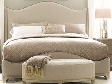 Caracole Avondale Brushed Tweed / Soft Silver King Panel Bed CASC023417121