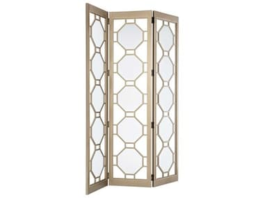 Caracole Classic Golden Shimmer Three-Panel Room Divider CACCLA419801