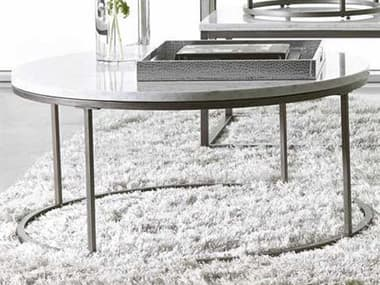 Palliser Case Goods Julien White Marble & Natural Steel Round Coffee Table CX836075MBW075