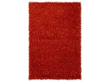 Chandra Zara Red / Orange Rectangular Area Rug CDZAR14510
