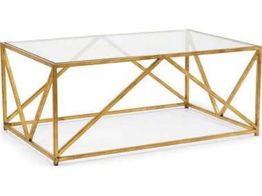 Chelsea House Harloquin Antique Gold Leaf 47.75''L x 30''W x 19''H Rectangular Coffee Table CH383237