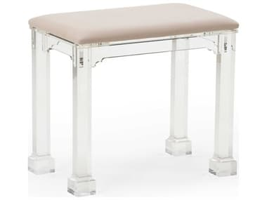 Chelsea House Clear / Natural Accent Stool CH384398