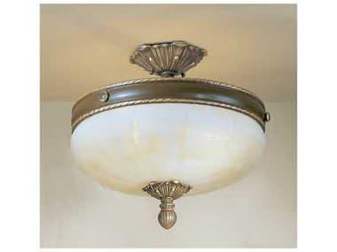 Classic Lighting Corporation Alexandria II Victorian Three-Light Semi-Flush Mount Light C869504VBZ