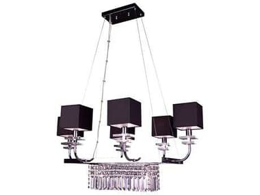 Classic Lighting Corporation Quadrille Black Eight-Light 24'' Wide Mini Chandelier C81936BLKCPR