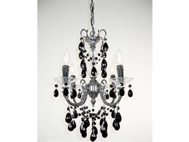 Classic Lighting Corporation Via Venteo Ebony Pearl Four-Light 17'' Wide Chandelier C857004EPCBK
