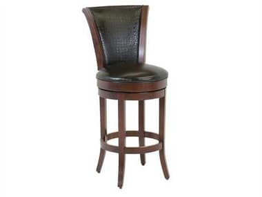 Classic Leather Parker Upholstered Back Bar Stool CL7674ASB