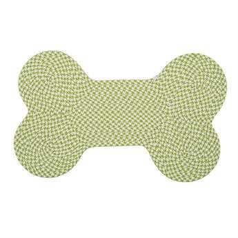 Colonial Mills Dog Bone Houndstooth Lime Area Rug CIOT69RG