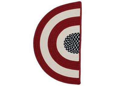 Colonial Mills Glory Slice Red White & Blue 18''x30'' Slice Area Rug CIGY00RGSLI