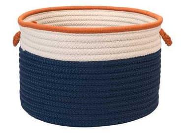 Colonial Mills In The Band Storage Bins Blue & Orange Round Basket CIBN81BKTROU