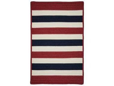 Colonial Mills Portico Patriotic Stripe Rectangular / Square Area Rug CIPO29RGREC