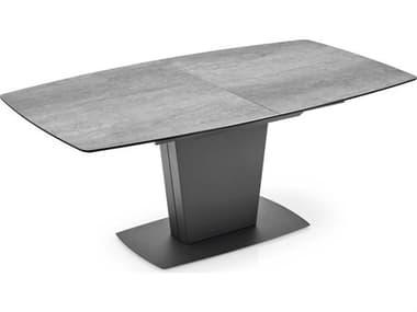 Connubia Athos Cement Ceramic Wood / Matte Grey Rectangular Dining Table CNUCB4783P1CP16P16