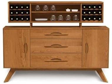 Copeland Furniture Audrey 66''L x 18''W Rectangular Buffet with Hutch CF6AUD50SET