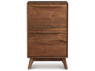 Copeland Furniture Catalina Natural Walnut Narrow File Cabinet CF4CAL2504