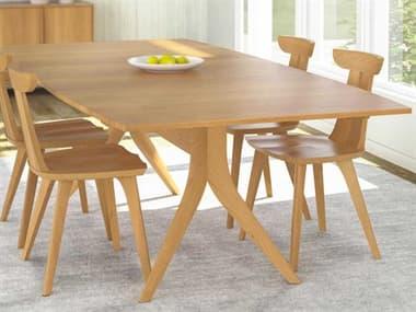 Copeland Furniture Catalina 60''-84''L x 40''W Rectangular Trestle Extension Dining Table CF6CAL15