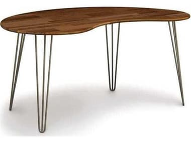 Copeland Furniture Essentials 60''L x 36''W Kidney Shape Computer Desk with Metal Legs CF8ESS601029