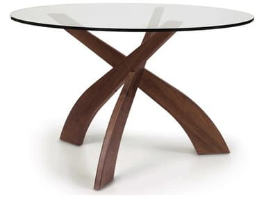 Copeland Furniture Statements Natural Walnut 48'' Wide Round Entwine Dining Table CF6ENT4804