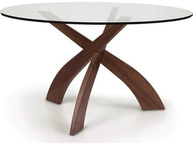 Copeland Furniture Statements Natural Walnut 54'' Wide Round Entwine Dining Table CF6ENT5404