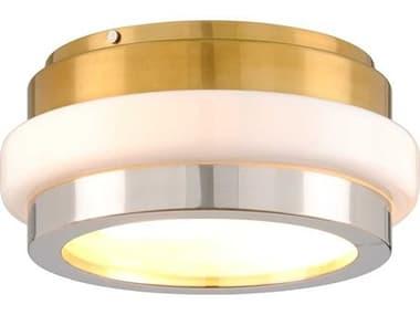 Corbett Lighting Beckenham Vintage Polished Brass / Nickel 2-light 16'' Wide Glass Flush Mount Light CT30032