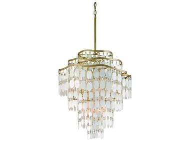 Corbett Lighting Dolce Champagne Leaf 12-Light 25'' Wide Pendant Light CT109412
